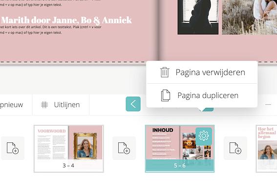 Myglossy.nl_maak je eigen magazine_8 tips pagina's kopiëren en verwijderen.